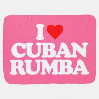 I LOVE CUBAN RUMBA BABY BLANKET