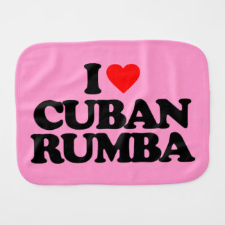 I LOVE CUBAN RUMBA BABY BURP CLOTH