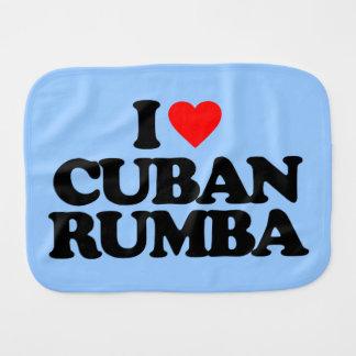 I LOVE CUBAN RUMBA BURP CLOTH