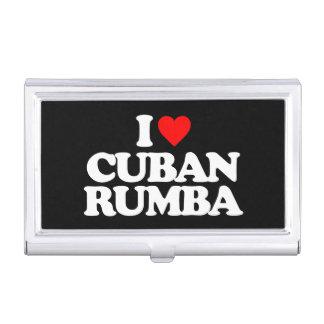 I LOVE CUBAN RUMBA BUSINESS CARD CASE