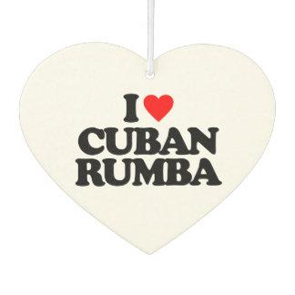I LOVE CUBAN RUMBA CAR AIR FRESHENER
