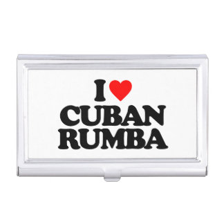 I LOVE CUBAN RUMBA CASE FOR BUSINESS CARDS