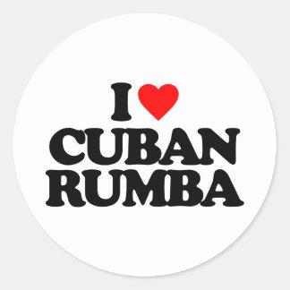 I LOVE CUBAN RUMBA CLASSIC ROUND STICKER