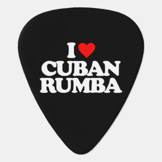 I LOVE CUBAN RUMBA GUITAR PICK