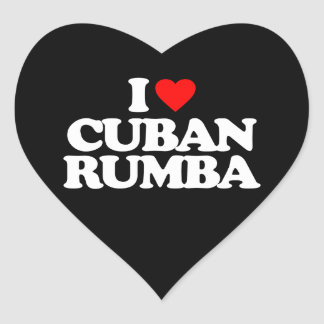 I LOVE CUBAN RUMBA HEART STICKER