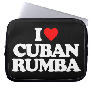 I LOVE CUBAN RUMBA LAPTOP SLEEVE