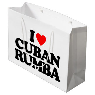 I LOVE CUBAN RUMBA LARGE GIFT BAG