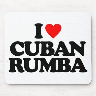 I LOVE CUBAN RUMBA MOUSE PAD