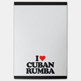 I LOVE CUBAN RUMBA POST-IT NOTES