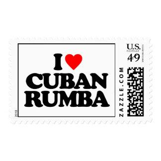 I LOVE CUBAN RUMBA POSTAGE