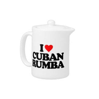 I LOVE CUBAN RUMBA TEAPOT