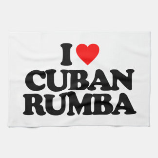 I LOVE CUBAN RUMBA TOWEL