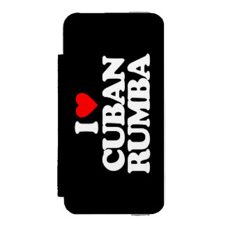 I LOVE CUBAN RUMBA WALLET CASE FOR iPhone SE/5/5s