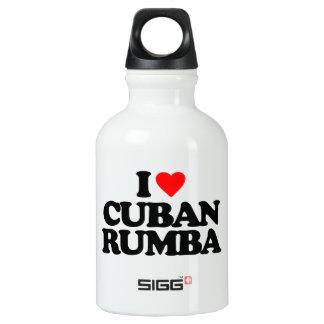 I LOVE CUBAN RUMBA WATER BOTTLE