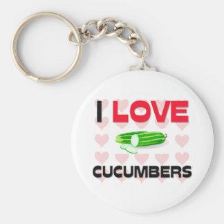 I Love Cucumbers Keychains