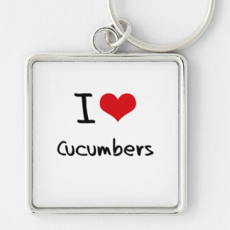 I love Cucumbers Keychain