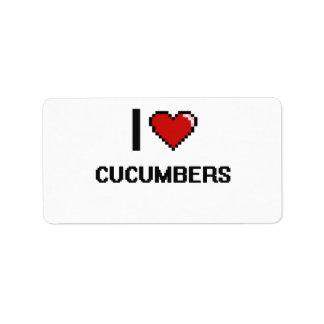 I Love Cucumbers Address Label