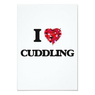 I love Cuddling 3.5x5 Paper Invitation Card