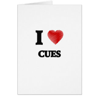 I love Cues Card
