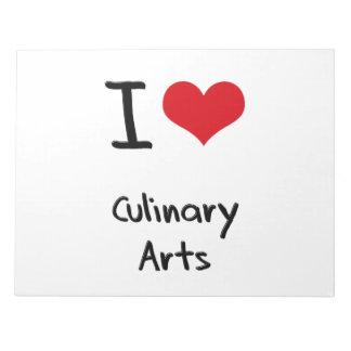 I love Culinary Arts Notepad