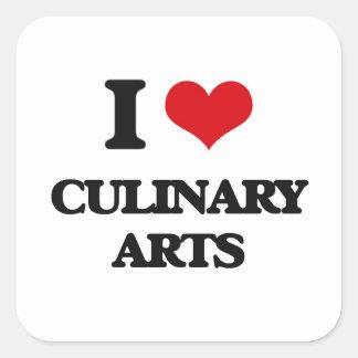 I love Culinary Arts Square Sticker