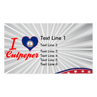 I Love Culpeper, Virginia Double-Sided Standard Business Cards (Pack Of 100)