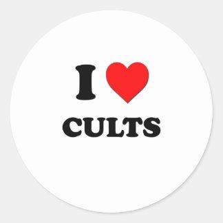 I love Cults Round Sticker