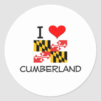 I Love Cumberland Maryland Classic Round Sticker