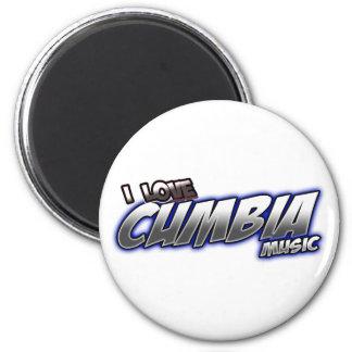 I Love CUMBIA music 2 Inch Round Magnet