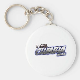 I Love CUMBIA music Basic Round Button Keychain