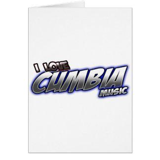 I Love CUMBIA music Greeting Card