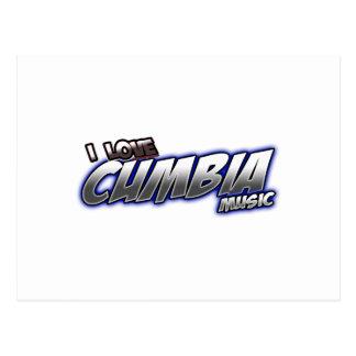 I Love CUMBIA music Postcard