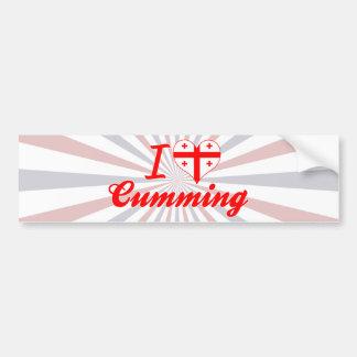 I Love Cumming, Georgia Car Bumper Sticker