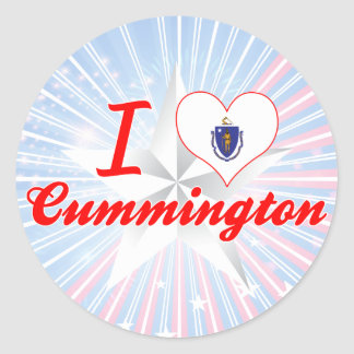 I Love Cummington, Massachusetts Stickers