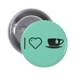 I Love Cup Teas 2 Inch Round Button