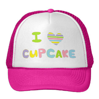 I Love Cupcake Trucker Hat