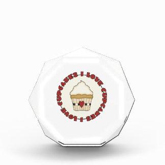 I Love Cupcakes Acrylic Award