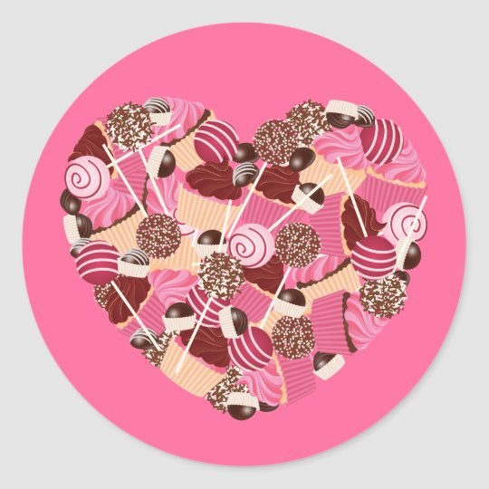 I Love Cupcakes and Cake Pops Stickers