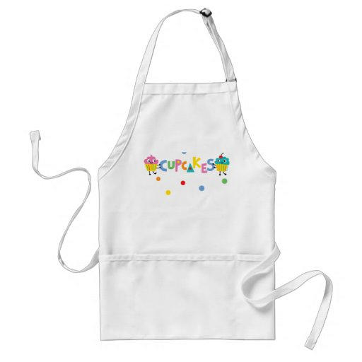I Love Cupcakes - banner Adult Apron