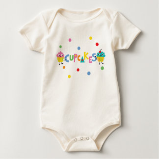 I Love Cupcakes - banner Baby Bodysuit