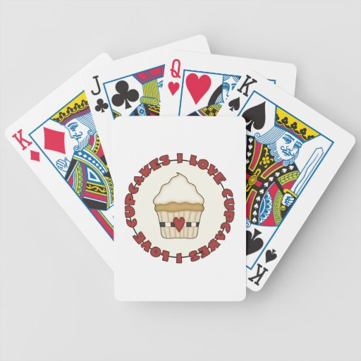 I Love Cupcakes Bicycle Playing Cards