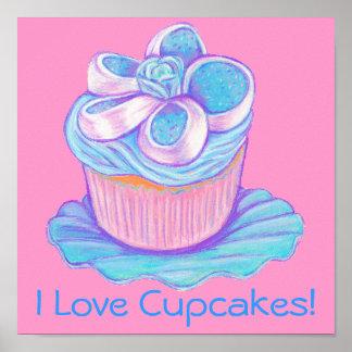 I Love Cupcakes! ~ Blue Cupcake Print