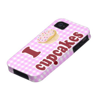 I Love Cupcakes Vibe iPhone 4 Cases