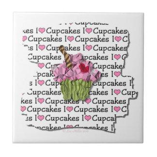 I Love Cupcakes Ceramic Tile