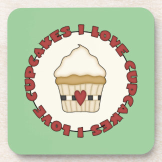 I Love Cupcakes Coaster