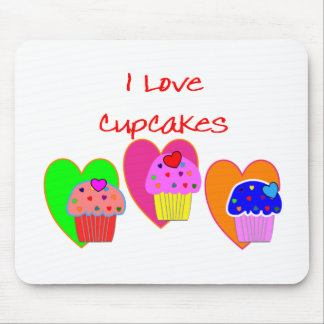 """I Love Cupcakes""--Cupcake lovers gifts Mouse Mat"