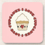 I Love Cupcakes Drink Coaster