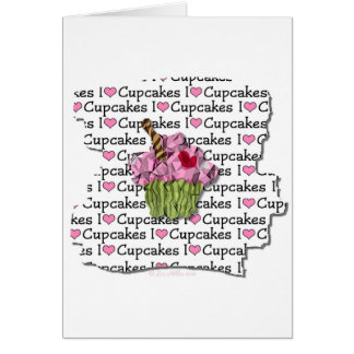 I Love Cupcakes  Gifts Apparel Collectibles Greeting Card
