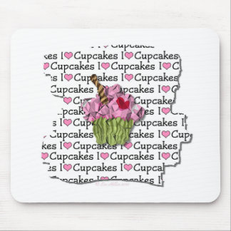 I Love Cupcakes  Gifts Apparel Collectibles Mouse Pad