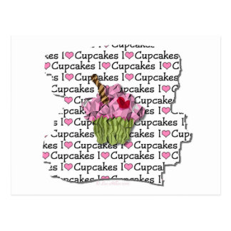 I Love Cupcakes  Gifts Apparel Collectibles Postcard